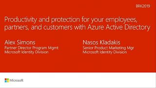 Productivity and protection for your employees, partners, and customers with Azure Active