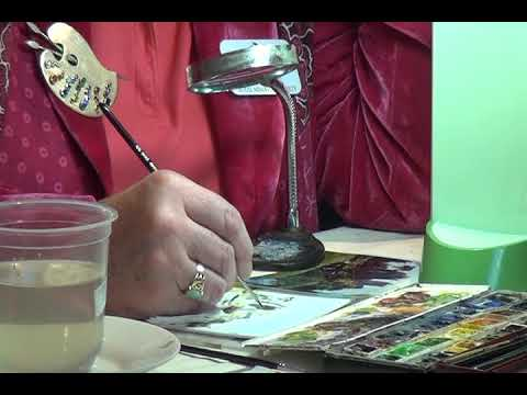 Artist Painter Rosalind Pierson talking about her miniature painting artwork