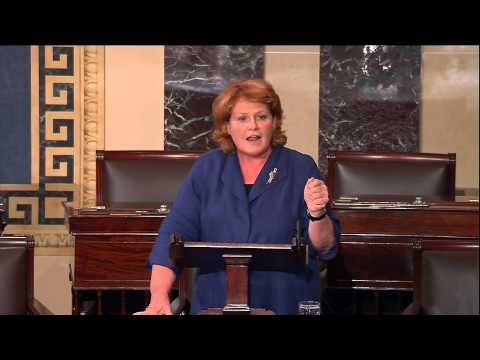 Heitkamp Speaking on Senate Floor about her First Bill which will Stand up for Native Children