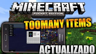 TOOMANY-ITEMS (COMO PC) | MINECRAFT PE 0.15.2 | MINECRAFT (POCKET EDITION) 0.15.2