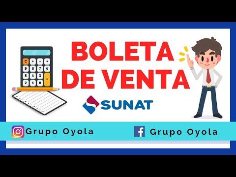 BOLETA DE VENTA