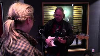 Meryl Streep Gets Guitar Lesson from Neil Young at the JBFC