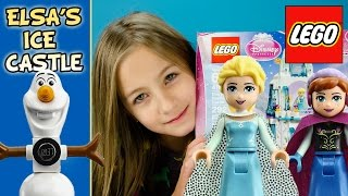 Lego Elsa Ice Castle Sparkling Palace 41062 Disney Princess Frozen Olaf Anna Review Lego- Plp