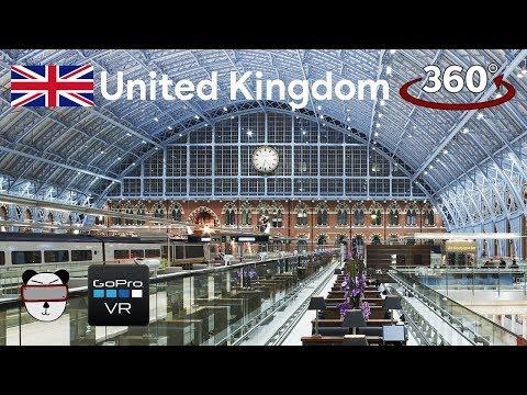 🌍 360° GoPro Omni VR: St Pancras Station | London, United Kingdom 🇬🇧