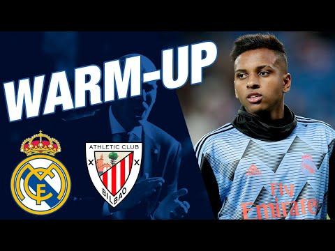 Real Madrid vs Athletic Club | Pre-match warm-up at the Santiago Bernabéu!