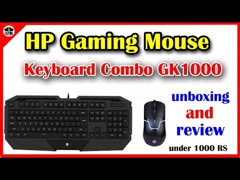 HP Gaming Mouse And Keyboard Combo GK1000 | UNBOXING AND REVIEW IN TAMIL | UNDER 1000 RS