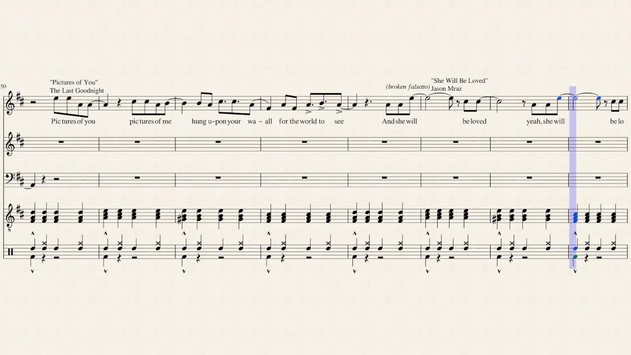 Four Chord Song Sheet Music - Chord Walls