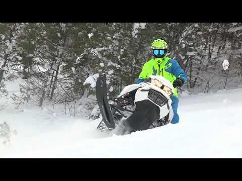 Snowmobiling in Munising Michigan
