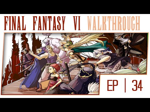 Final Fantasy 6 No Commentary Gameplay Walkthrough - Part 34 - Phoenix Cave [Boss: Red Dragon]