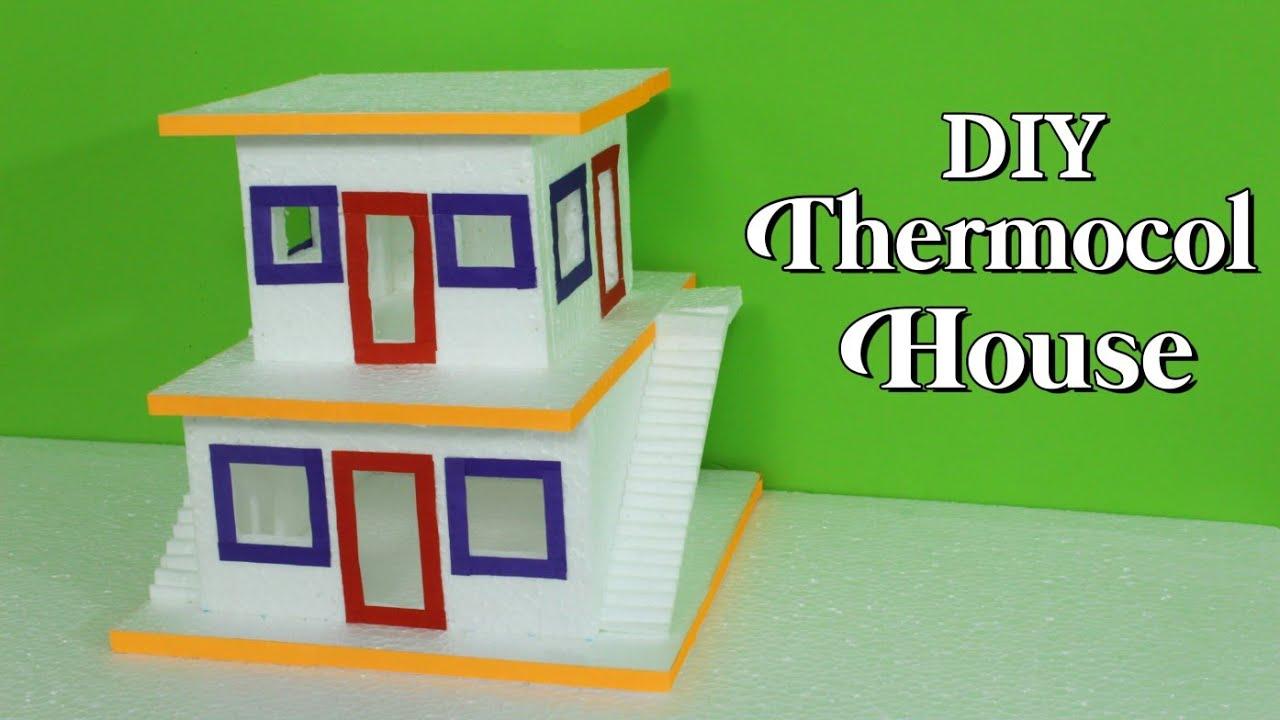 How To Make Thermocol House | DIY Thermocol House | Thermocol Craft