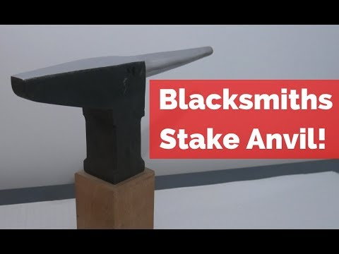 Forging a Stake Anvil! Step By Step on Building an Anvil!