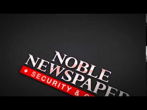Noble Newspaper Logo Animation Alternate