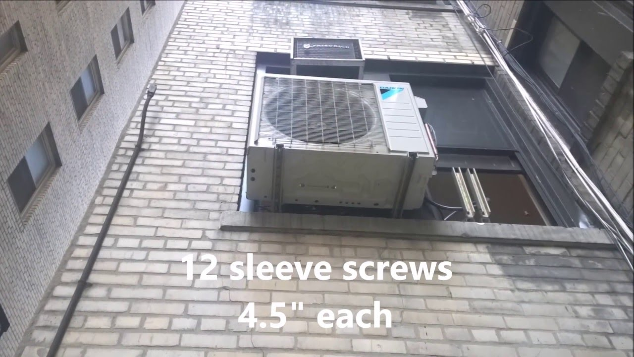 Daikin Mini Split On Window Installation Youtube