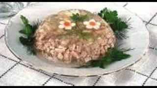 Холодные закуски мясные:Холодец из птицы