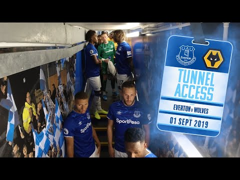 YERRY MINA GETS FIRED UP!   TUNNEL ACCESS: EVERTON V WOLVES