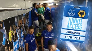 YERRY MINA GETS FIRED UP! | TUNNEL ACCESS: EVERTON V WOLVES