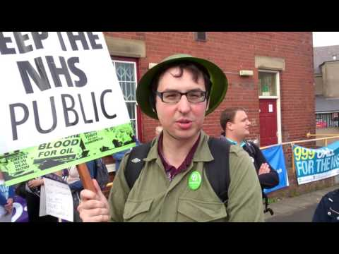 GreenParty member @ #March4NHS 16.08.14