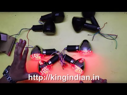 3 in 1 Harley style indicators for Royal Enfield - King Indian