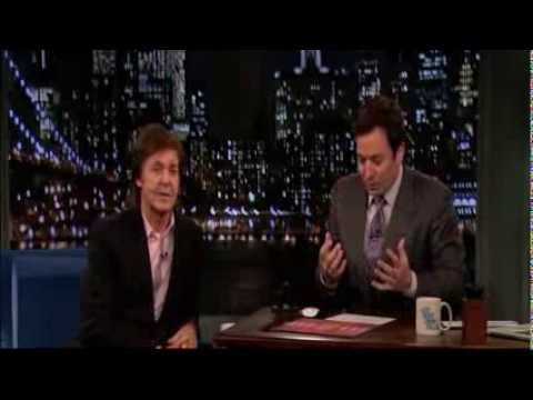 Paul McCartney Interview on Jimmy Fallon - 10/7/13 (NEW Album)
