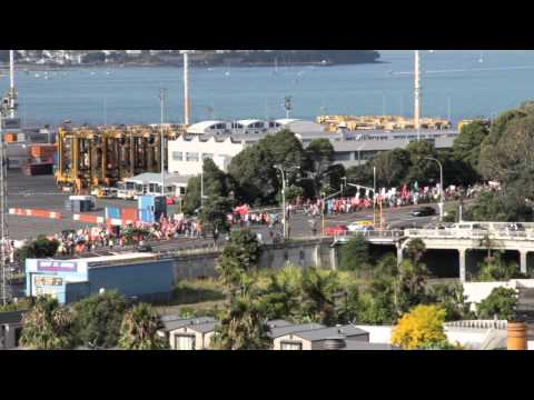 Port of Auckland protest march 10/03/2012