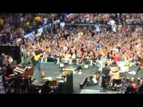 10/3/14 - Pearl Jam in STL - Kerry Wood and Willie Wilson playing tambourines on stage.
