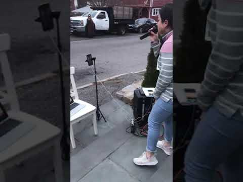 COVID-19: Local Singer Puts On Concert From Front Steps For Neighbors In Fairfield County