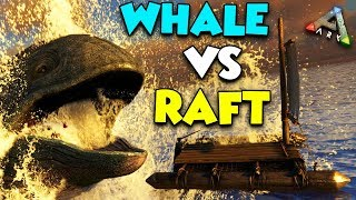 PRISON RAFT vs MEGA WHALE - ( Ragnarok ) ARK Duo Survival Series #11