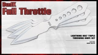 Lightning Bolt Triple Throwing Knife Set - $19.99