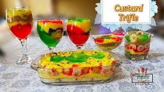 Custard Trifle In 5 Different Ways || How To Make Custard Trifle