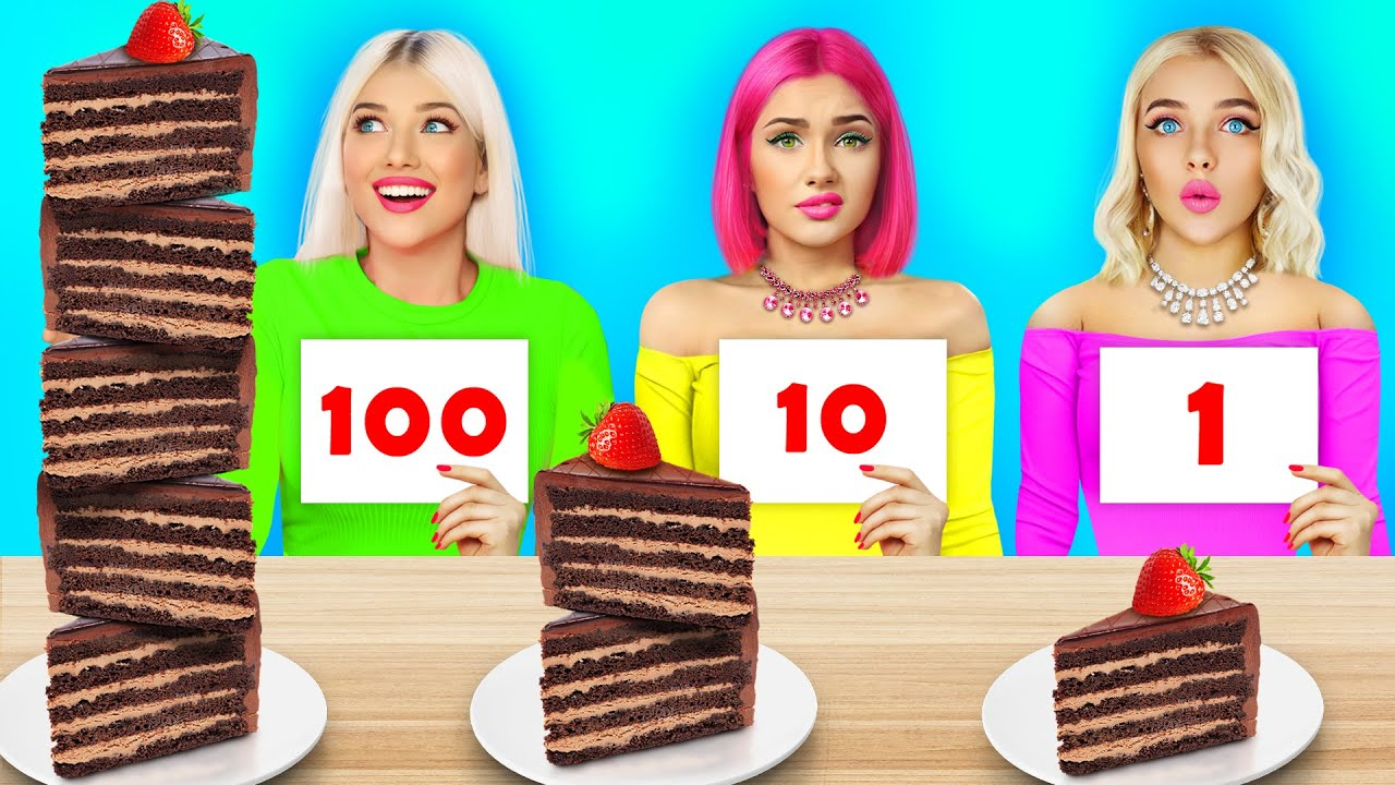 100 Layers of Chocolate Food Challenge | Epic Battle With Sweets For 24 HRS by RATATA CHALLENGE