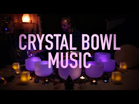 432Hz - Crystal Singing Bowls - al Sound Bath No Talking Unintentional ASMR