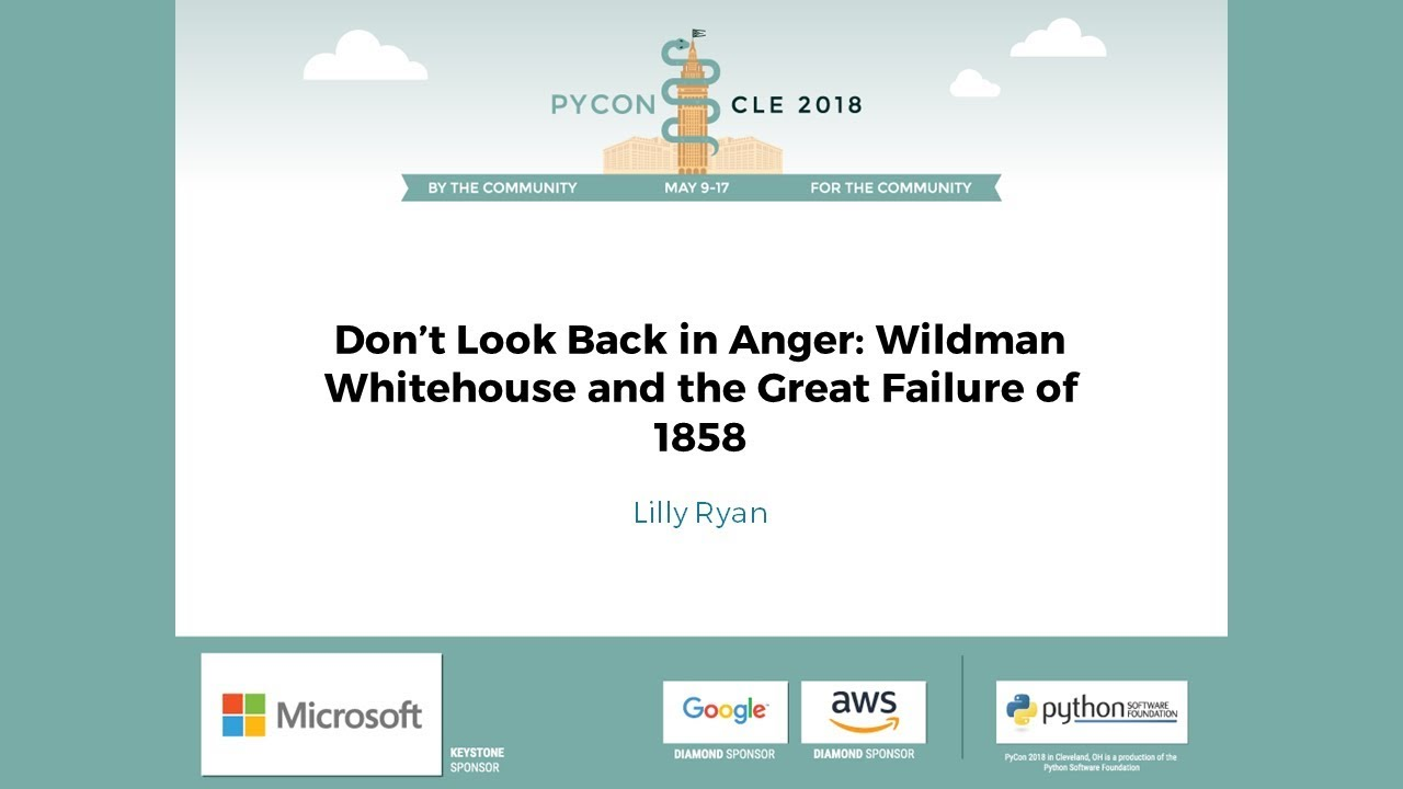 Image from Don't Look Back in Anger: Wildman Whitehouse and the Great Failure of 1858