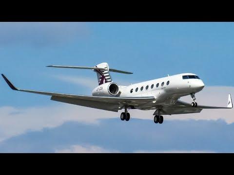 Qatar Executive Gulfstream G650ER (GLF6) landing & departing Montreal (YUL/CYUL)