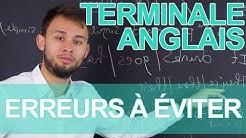 Erreurs fréquentes à éviter - Anglais - Terminale - Les Bons Profs