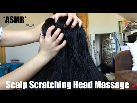 ASMR SCALP SCRATCHING HEAD MASSAGE ON WET & DRY HAIR (SPRAY BOTTLE + BRUSHING SOUNDS INCLUDED) !!