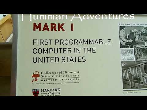 Harvard Mark I FIRST Programmable Computer In USA Harvard University Boston