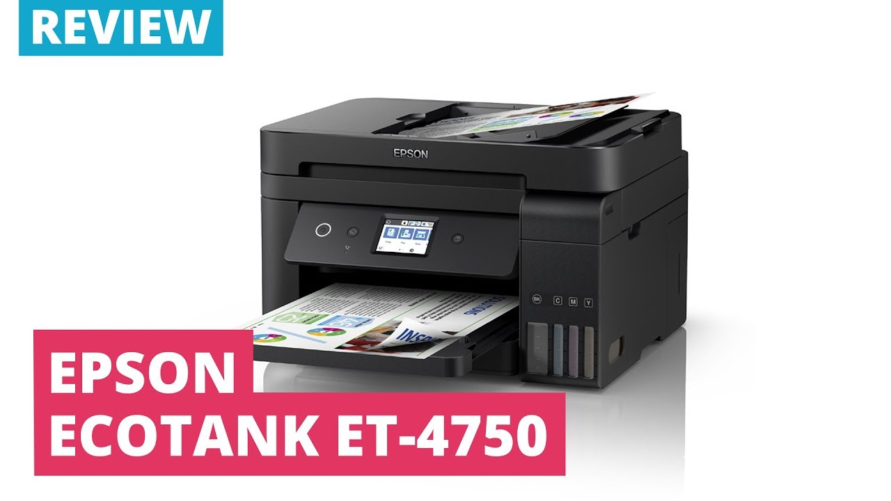 Printerland Review: Epson EcoTank ET-4750 A4 colour Multifunction Inkjet  Printer
