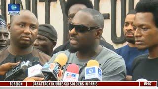 Charlie boy fainted while protesting and jim iyke demands pres buhari returns