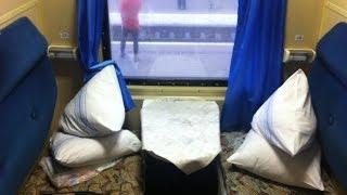 Inside Sleeper Car Lvov - Dnepropetrovsk (поезд Львов - Днепропетровск)