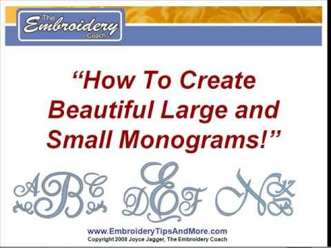 How To Create Monograms