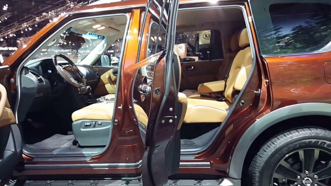 2017 nissan armada platinum interior walkaround 2016. Black Bedroom Furniture Sets. Home Design Ideas