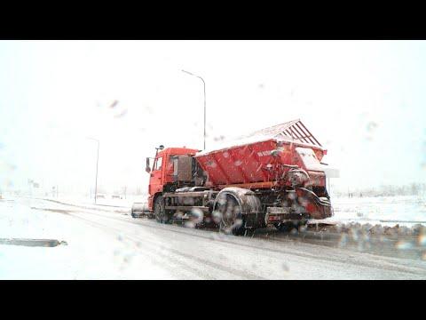 Штормовой циклон принес снег в Волгоградскую область