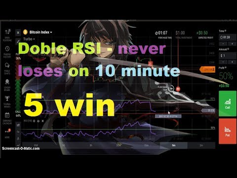 DOBLE RSI - NEVER LOSES on 10 minute - 5 WIN || iq option strategy