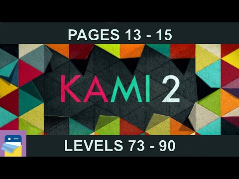 KAMI 2: Journey Pages 13 14 15 (Levels 73 - 90) Walkthrough & Solutions (by State of Play)
