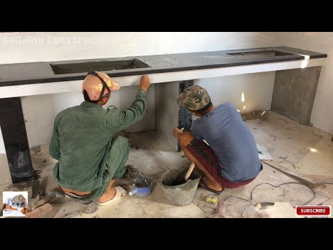 Installation Of Only Tiles Running The Kitchen Edge - How to Install Stone on Kitchen Table