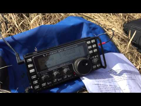 Elecraft KX3 QRP Pileup on SOTA Summit