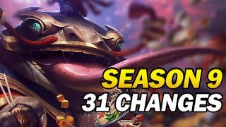 31 Changes for the start of Season 9 Patch 9.2