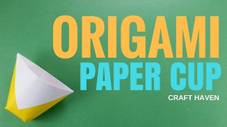 Origami Paper Cup - How To Make Paper Cup - Super Easy Origami Tutorial for Beginners - DIY