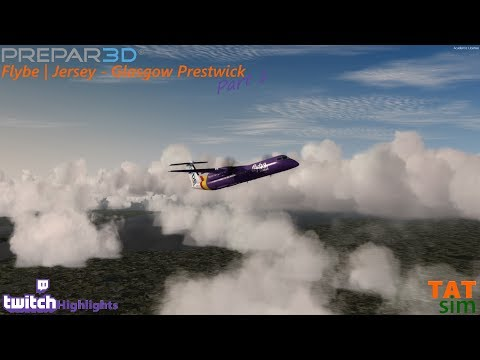 P3D | Jersey to Glasgow Prestwick | Majestic Dash 8 Q400 | Full Flight with Vatsim | Part 1