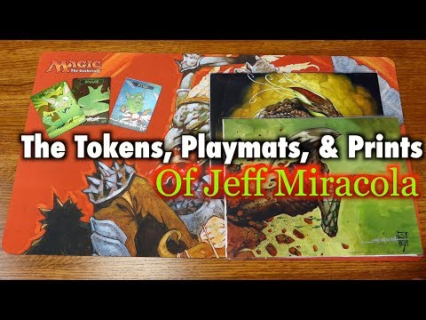 MTG - The Tokens, Playmats, And Art Prints Of Jeff Miracola For Magic: The Gathering